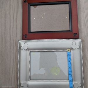 Disney Mickey Mouse 5x7 Lot 2 Picture Frames Rare